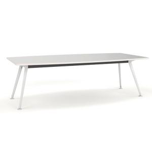 Team Table White Frame 2400