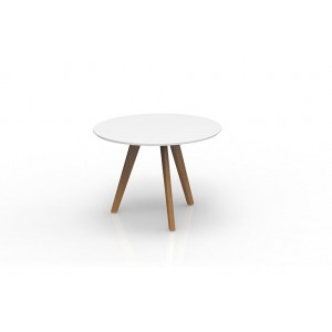 Oslo Round Meeting Table White