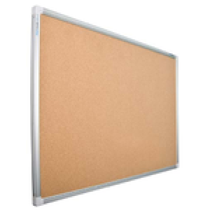 Cork Noticeboard Single Sided Aluminium Framed 1200 x 1200