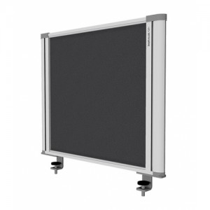 Desk Mounted Screen Charcoal 450 x 560