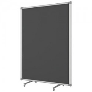 Free Standing Partitions Charcoal Grey Fabric 900 x 1500