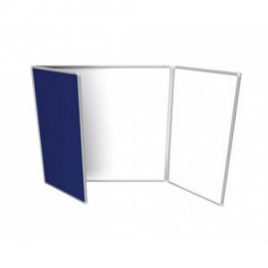 Whiteboard and Pinboard Display Cabinet 900 x 1200