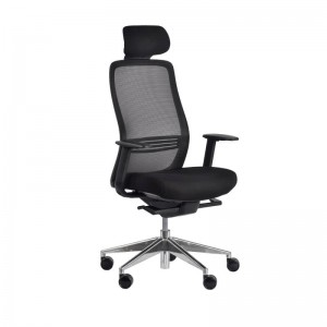 Konfurb Luna Head Rest Chair Black Armed