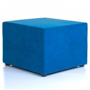 Chair Solutions - Ottoman 600 Cube - Aquarius Wool