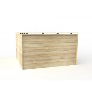 Cubit Reception Facade 1800 x 1800 Atlantic Oak