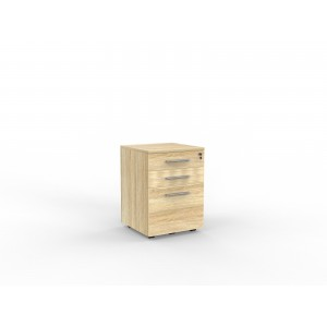 Cubit 2 Drawer and File Mobile Atlantic Oak