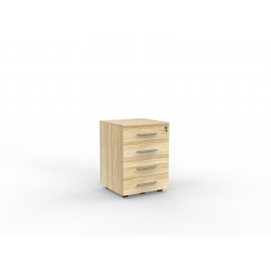 Cubit 4 Drawer Mobile Atlantic Oak