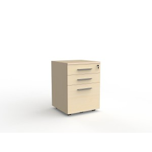 Cubit 2 Drawer and File Mobile Nordic Maple