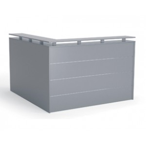 Cubit Reception Facade 1800 x 1800 Silver