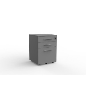 Cubit 2 Drawer and File Mobile Silver