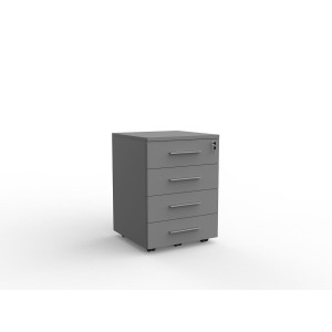 Cubit 4 Drawer Mobile Silver