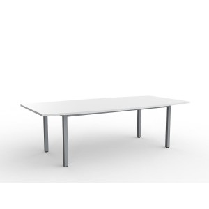 Cubit Boardroom Table 2400 White