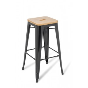 EOS Industry Stool Wood Top Bar