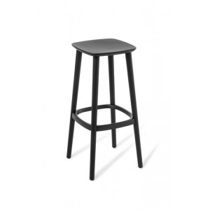 Babila Bar Stool Black Stained Ash