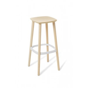 Babila Bar Stool Bleached Ash - 750mm