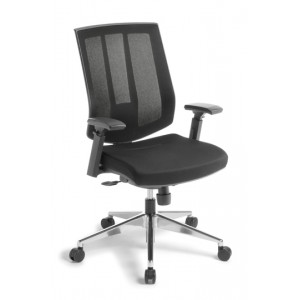 EOS Rally Mesh Back Arm Chair Alloy Base