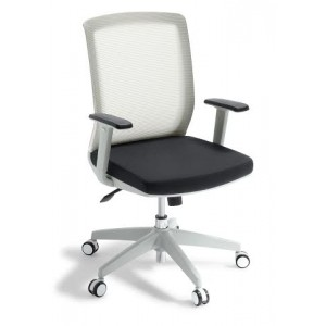 EOS Media Boardroom Mesh Chair White