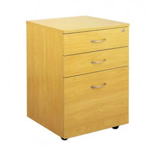 Ergoplan Locking 2 Drawer and File Mobile Pedestal