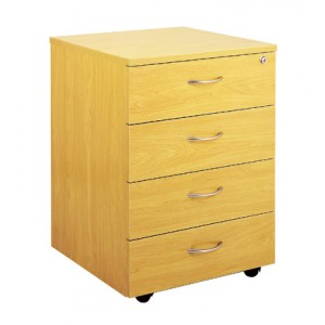 Ergoplan Locking 4 Drawer Mobile Pedestal