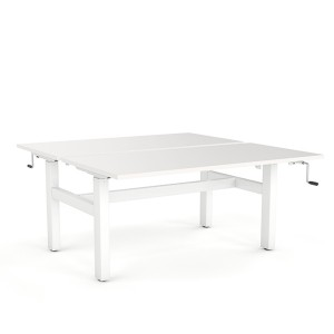 Agile - Double Shared Manual Height Adjustable Desk 1500 x 800