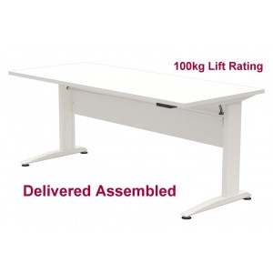 Electric Standing/Sitting Desk White Frame 900 x 700