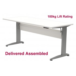 Electric Standing/Sitting Desk Silver Frame 1500 x 800