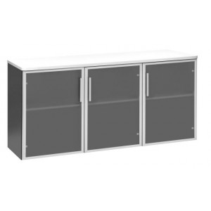 Pulse Glass Door Credenza 1500 White