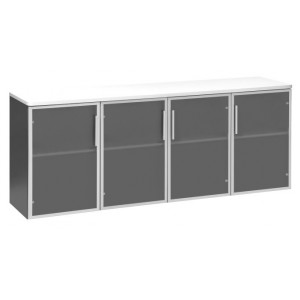 Pulse Glass Door Credenza 1800 White