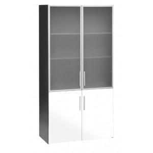 Pulse Wall Case 2 Glass 2 Melteca Door Cupboard White