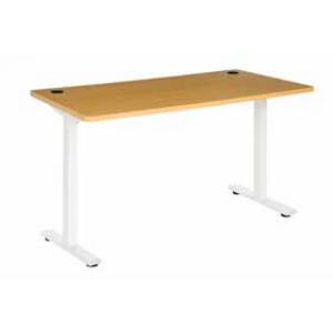 Pulse 1500 Desk Steel Leg White/Beech