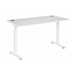 Pulse 1500 Desk Steel Leg White/White