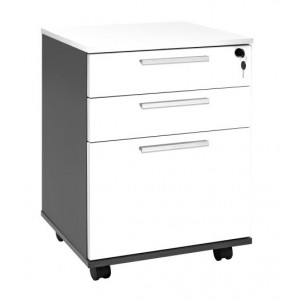 Pulse Mobile 2 Drawer Plus File White