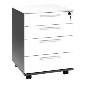 Pulse Mobile 4 Drawer White