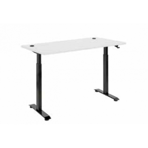Pulse Pneumatic Sit Stand 1500 Desk Black/White