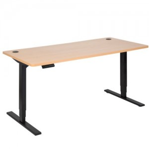 Pulse Electric Sit Stand 1800 Desk Black/Beech