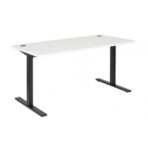 Pulse 1500 Desk Steel Leg Black/White