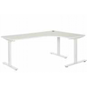 Pulse 1200 x 1800 Right Hand Workstation Steel Leg White/White
