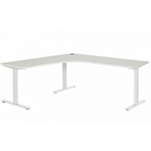 Pulse 1500 Workstation Steel Leg White/White
