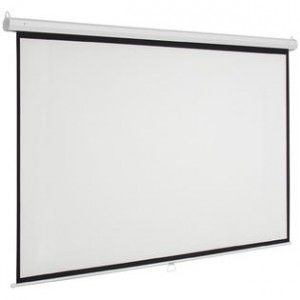 Classic Manual Pull Down Projection Screen - 128 Inch